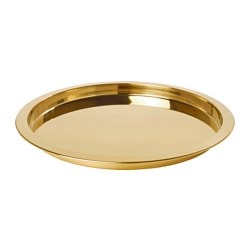 GLATTIS tray, brass-colour