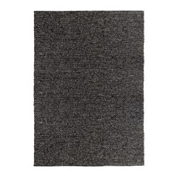 HJORTHEDE rug, gray handmade gray