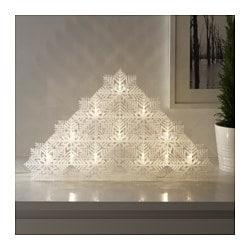 STRÅLA LED table decoration, snowflakes Height: 31 cm