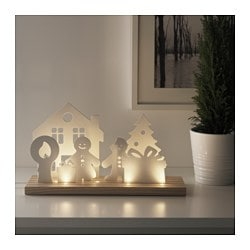 STRÅLA LED table decoration, celebrating christmas Height: 21 cm Package quantity: 1 pieces
