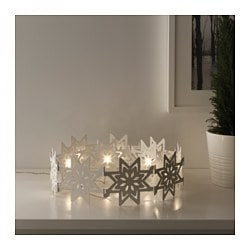 STRÅLA LED table decoration, snowflakes, foldable Height: 11 cm Package quantity: 12 pieces