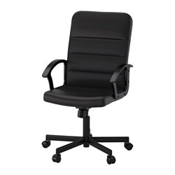 RENBERGET swivel chair, Bomstad black Tested for: 110 kg Width: 59 cm Depth: 65 cm