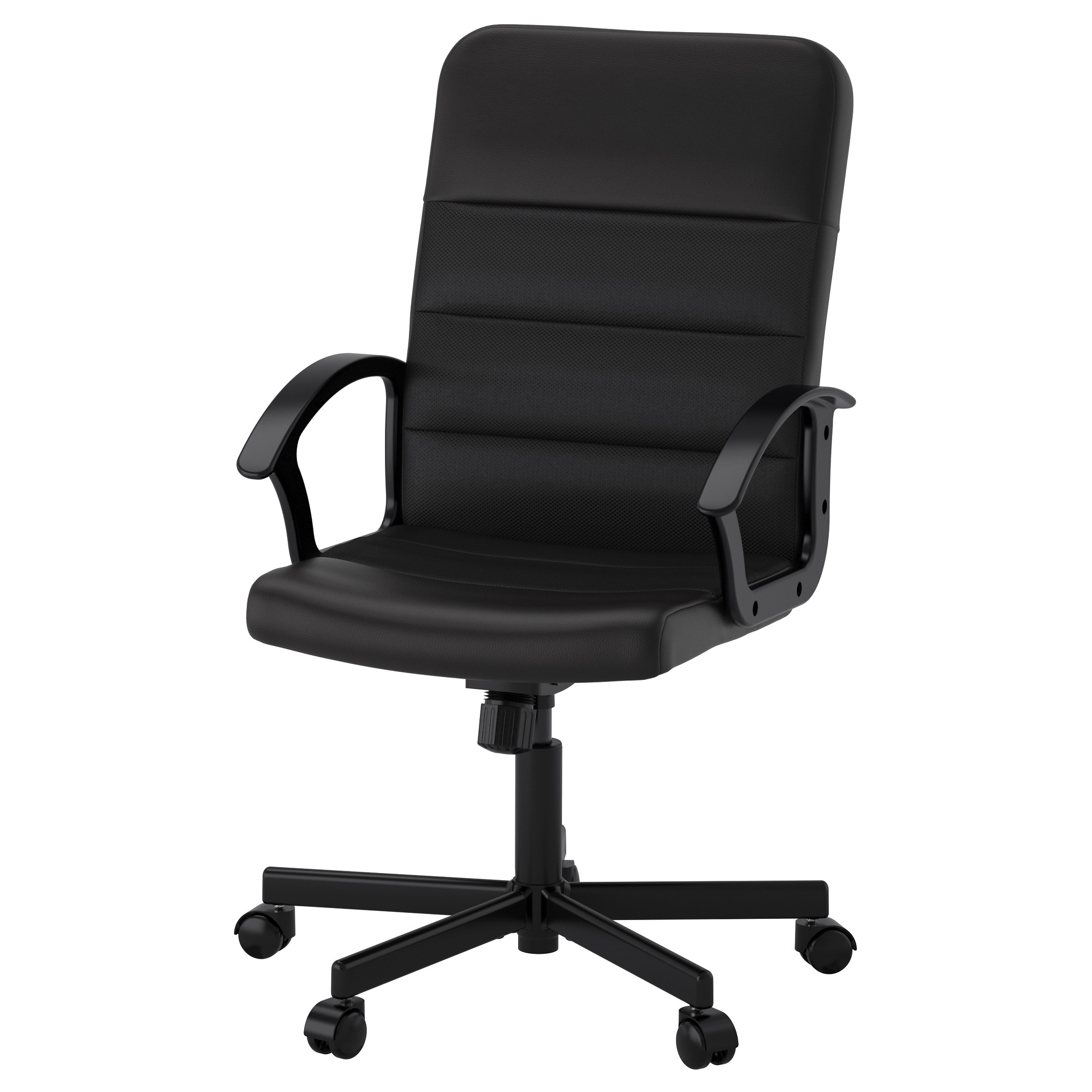 White Leather Office Chair Ikea RENBERGET Swivel Chair Bomstad Black Tested For 242 Lb 8 Oz Width 23 White Leather Office Ikea N