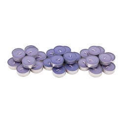 SINNLIG scented tealight, Blackberry, lilac Diameter: 38 mm Burning time: 4 hr Package quantity: 30 pieces