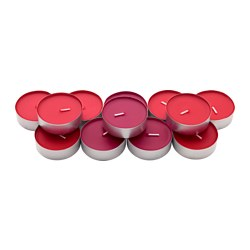 SINNLIG scented candle in metal cup, Red garden berries, red Diameter: 59 mm Burning time: 9 hr Package quantity: 12 pieces