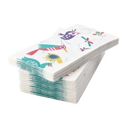 "SPRUDLA paper napkin, animal, patterned Length: 15 "" Width: 15 "" Package quantity: 30 pack Length: 38 cm Width: 38 cm Package quantity: 30 pack"