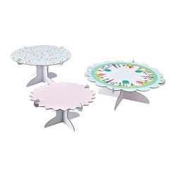 UDDIG cake stand, set of 3