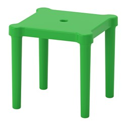 UTTER, Children's stool, indoor/outdoor, green