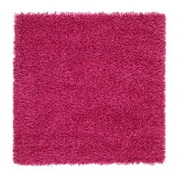 "HAMPEN rug, high pile, bright pink Length: 2 ' 7 "" Width: 2 ' 7 "" Area: 6.89 sq feet Length: 80 cm Width: 80 cm Area: 0.64 m²"