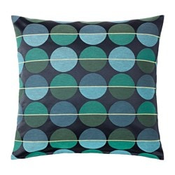 OTTIL, Cushion cover, blue/green