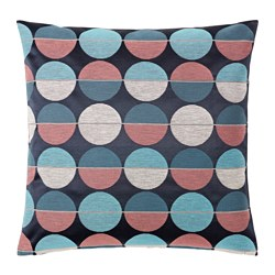 OTTIL, Cushion cover, blue/pink