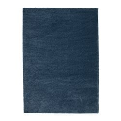 ÅDUM rug, high pile, dark blue