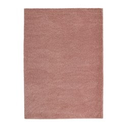 ÅDUM rug, high pile, light brown-pink