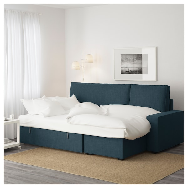 Blue Ikea Sofa Beds: VILASUND Sofa Bed With Chaise Longue