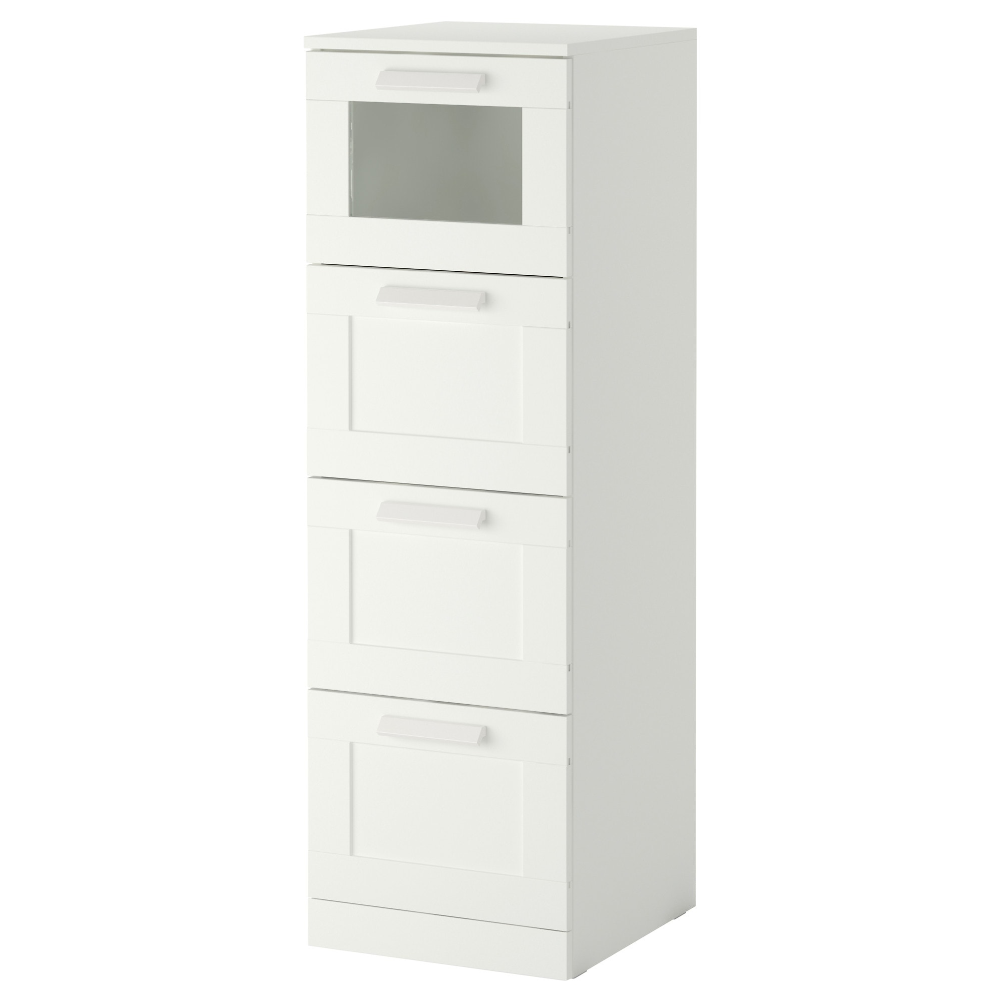 BRIMNES 4 drawer chest  white  frosted glass Width  15 3 8. Dresser   Chest of Drawers   IKEA