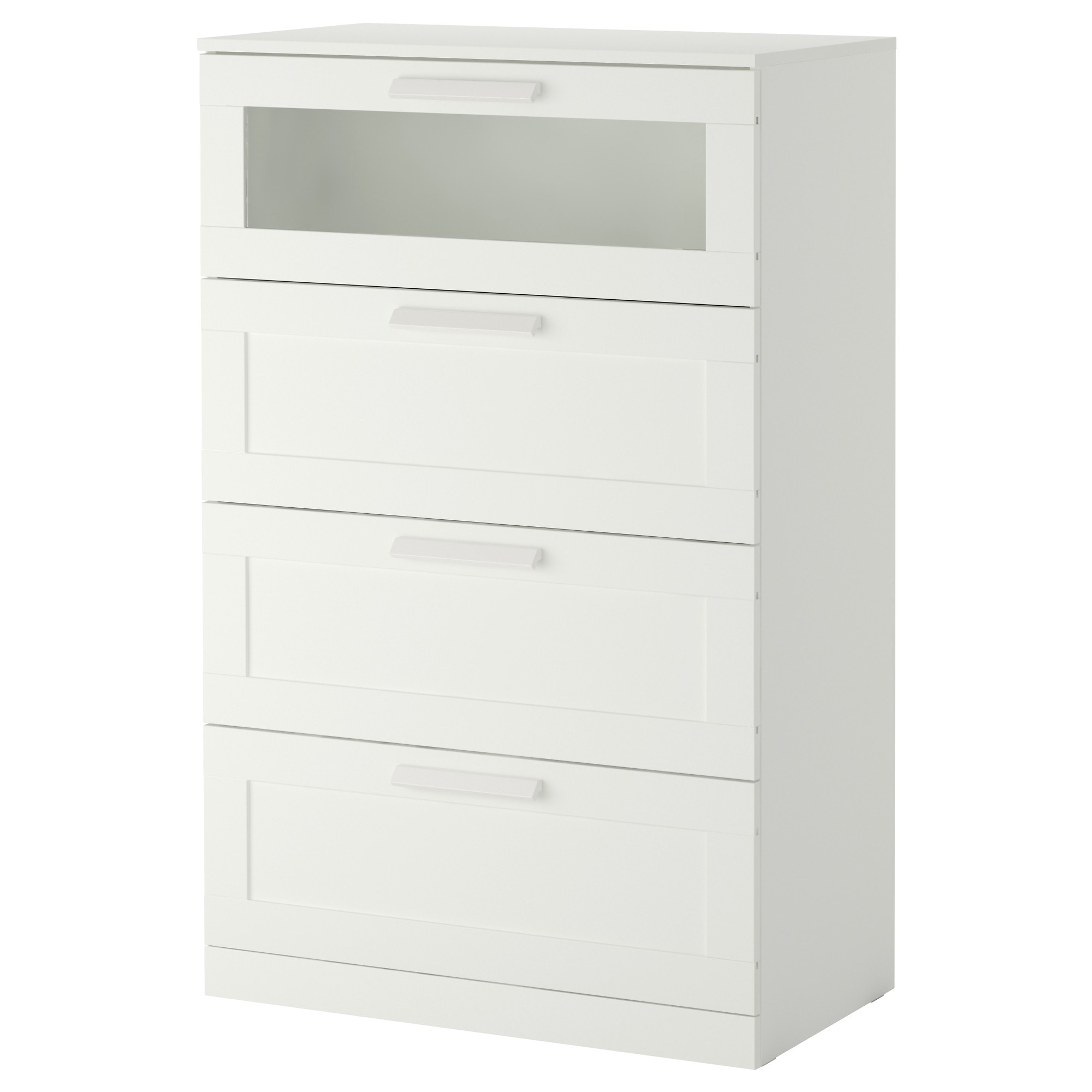. BRIMNES 4 drawer dresser   white frosted glass   IKEA
