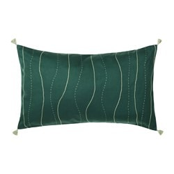 HEMGJORD cushion cover, embroidery, stripe Length: 65 cm Width: 40 cm