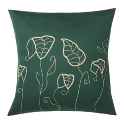 HEMGJORD cushion cover, leaves Length: 65 cm Width: 65 cm