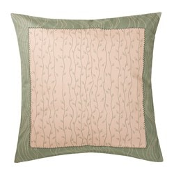 HEMGJORD cushion cover, printed leaves Length: 65 cm Width: 65 cm