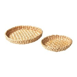 HEMGJORD dish, set of 2, banana fiber