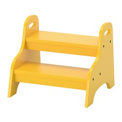 TROGEN children's step stool, yellow Width: 40 cm Depth: 38 cm Height: 33 cm