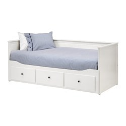 HEMNES, Day-bed frame with 3 drawers, white
