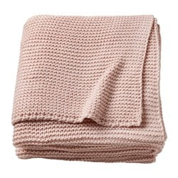 INGABRITTA throw, pale pink Length: 170 cm Width: 130 cm Total weight: 1080 g