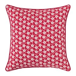 LÖVKOJA cushion cover, red/white Length: 50 cm Width: 50 cm