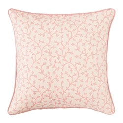 LUNGÖRT, Cushion cover, pink/white