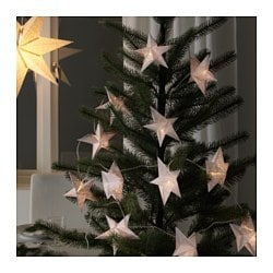 STRÅLA decoration for lighting chain, star-shaped, paper Diameter: 14 cm Package quantity: 12 pieces