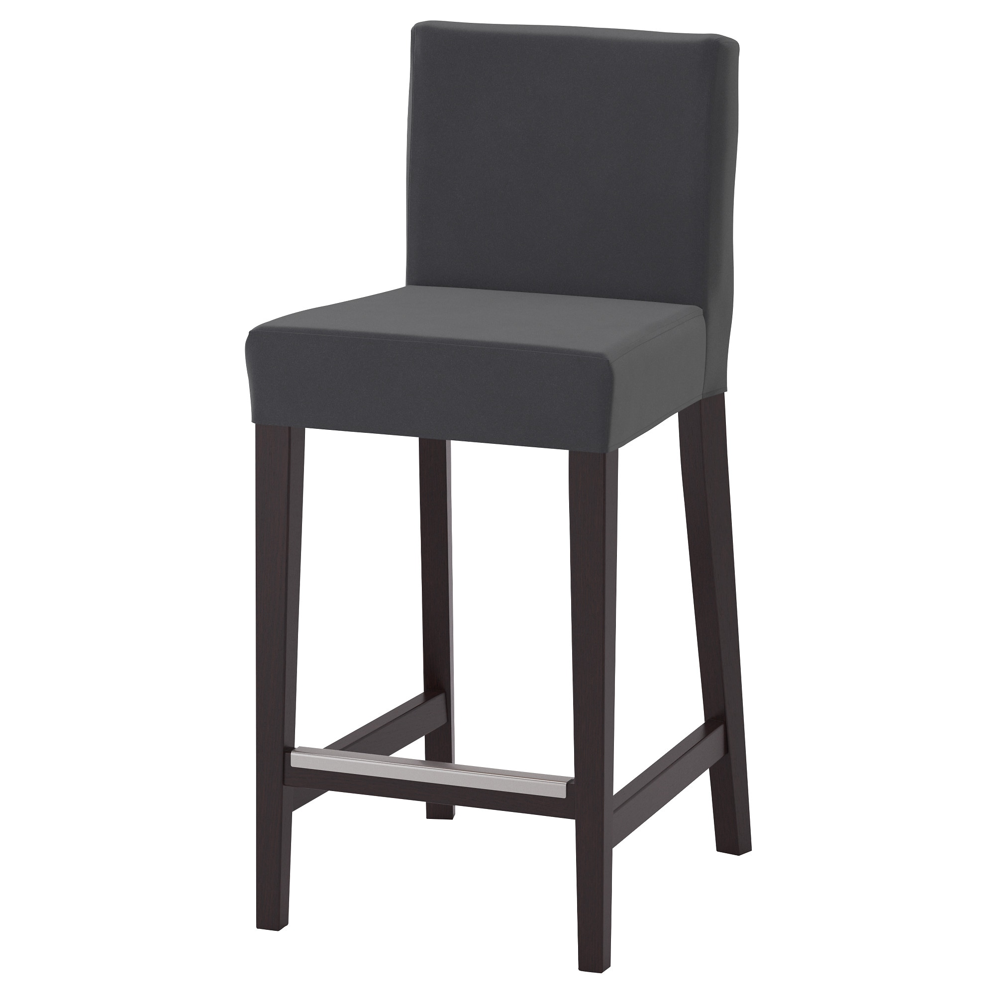 HENRIKSDAL bar stool with backrest brown-black Djuparp dark gray Tested for  sc 1 st  Ikea & Bar Stools - IKEA islam-shia.org