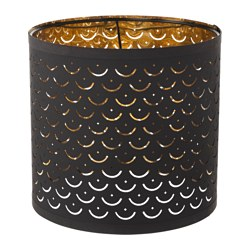 NYMÖ lamp shade, black, brass-colour