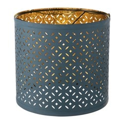NYMÖ lamp shade, blue, brass color