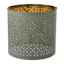 "NYMÖ lamp shade, green, brass color Height: 9 "" Diameter: 9 "" Height: 23 cm Diameter: 24 cm"