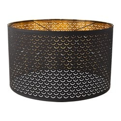 "NYMÖ lamp shade, black, brass color Height: 14 "" Diameter: 23 "" Height: 35 cm Diameter: 59 cm"