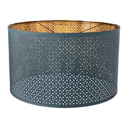 "NYMÖ lamp shade, blue, brass color Height: 14 "" Diameter: 23 "" Height: 35 cm Diameter: 59 cm"