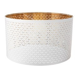 "NYMÖ lamp shade, white, brass color Height: 14 "" Diameter: 23 "" Height: 35 cm Diameter: 59 cm"