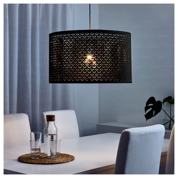 on sale 1d642 23572 Lamp shade NYMÖ black, brass color