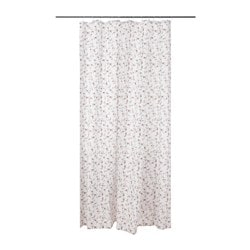 LJUSÖGA, Shower curtain, flower
