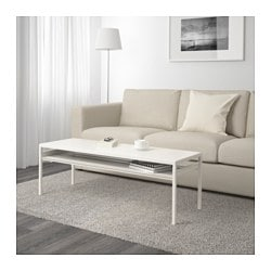 NYBODA coffee table w reversible table top, white/grey