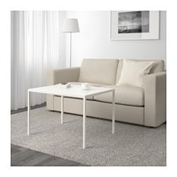 NYBODA, Coffee table w reversible table top, white/gray