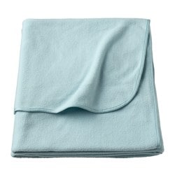 SKOGSKLOCKA throw, light blue