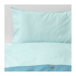 TILLGIVEN crib duvet cover/pillowcase, turquoise