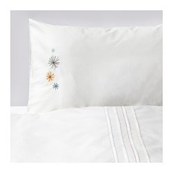 TILLGIVEN crib duvet cover/pillowcase, white