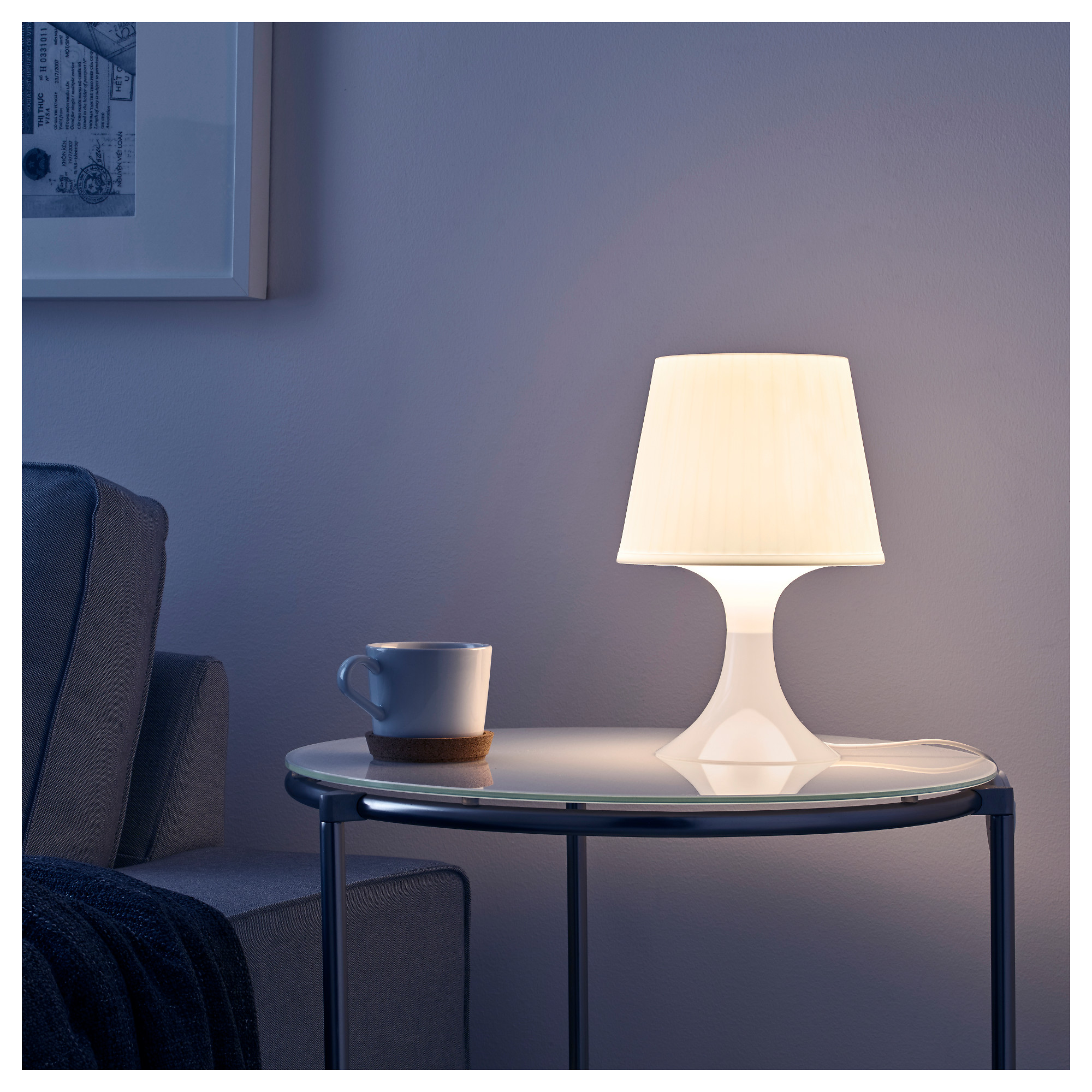 LAMPAN Table lamp with LED bulb IKEA