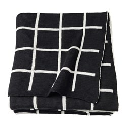 ALMALIE throw, black, white