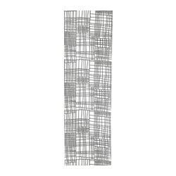 AKVELINA panel curtain, white, gray