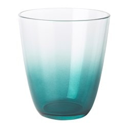 TÖMMA glass, dark blue Height: 10 cm Volume: 23 cl Package quantity: 6 pack