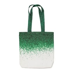 STUNSIG bag, green pearls Width: 40 cm Height: 44 cm