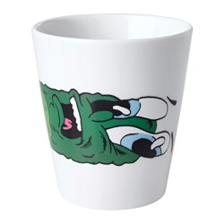 STUNSIG mug, cucumber Height: 10 cm Volume: 35 cl